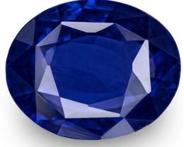 GRS Certified Sri Lanka Blue Sapphire, 2.52 Carats, Deep Royal Blue Oval