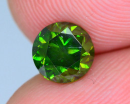 AIG Certified 1.02 ct Natural Green Diamond