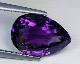 6.10 ct  Top Quality Gem  Superb Pear Cut Natural Purple Amethyst