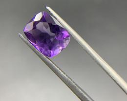 2.69 Ct Amethyst Loose Gemstone - Natural Gemstone - Cushion Shape - Violet