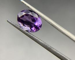 1.93 ct Amethyst Loose Gemstone - Natural Gemstone - Oval Shape - Violet