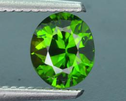 Rare 1.22 ct Green Zircon Great Luster Unheated Cambodia