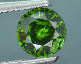 1.43 ct Green Zircon Great Luster Unheated Cambodia