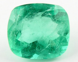 NR 1.25ct Natural Colombian Emerald Green Loose Gemstone No Reserve
