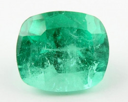 NR 0.98ct Natural Colombian Emerald Green Loose Gemstone No Reserve
