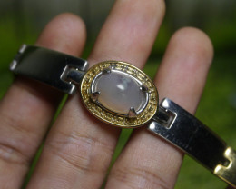 145.05 CT Indonesian Untreated Chalcedony Agate Braclet Jewelry
