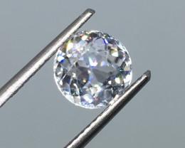 2.87 Carat VVS Zircon  Diamond White Color Spectacular Color Flash Quality