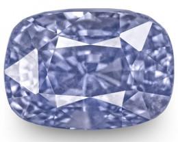 GIA Certified Sri Lanka Blue Sapphire, 5.48 Carats, Intense Blue Cushion