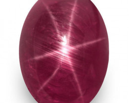 GIA Certified Madagascar Star Ruby, 8.32 Carats, Rich Magenta Red Oval
