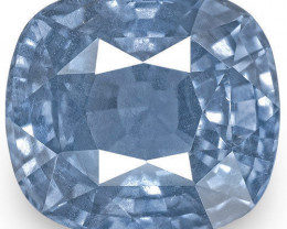 GIA Certified Sri Lanka Blue Sapphire, 5.21 Carats, Intense Blue Cushion