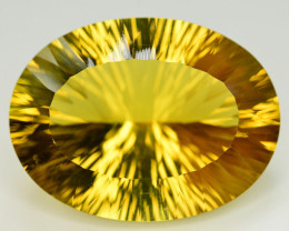 Laser Cut 65.30 Ct Gorgeous Color Natural Citrine