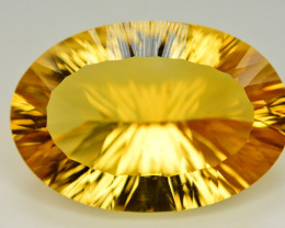 Laser Cut 35 Ct Gorgeous Color Natural Citrine