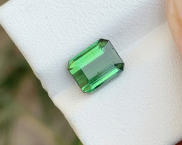 2.15 Ct Natural Greenish Transparent Tourmaline Gemstone