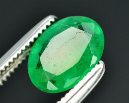 0.85 Ct Brilliant Color Natural Zambian Emerald