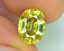 GiL Certified 2.98 ct Imperial Zircon Untreated Cambodia