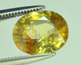 GiL Certified 3.66 ct Imperial Zircon Untreated Cambodia
