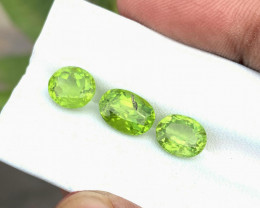 7.50 Ct Natural Greenish Transparent Peridot Gemstones Parcels