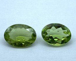 Lot of 2 Peridot 2.66 ct 2.69 ct Oval cut Natural Gemstone