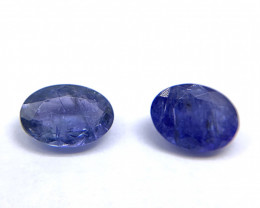 Tanzanite Lot of 2 gemstones 2.18 ct 2.40 ct Oval cut