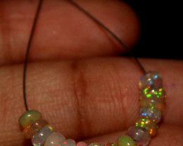 2.55 Crt Natural Ethiopian Welo Faceted Opal Demi Strand 60