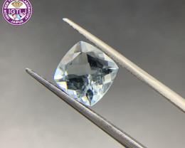 3.32 ct Aquamarine Loose Gemstone - Natural Gemstone - Cushion Shape - BLUE
