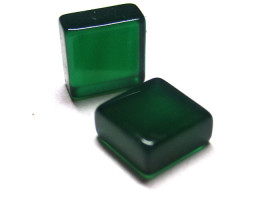 2.93tcw Green Chalcedony Matching Square Discs