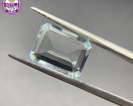 3.72 ct Aquamarine Loose Gemstone - Natural Gemstone - Octagon Shape - BLUE