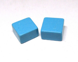 2.62tcw Turquoise Matching Square Discs