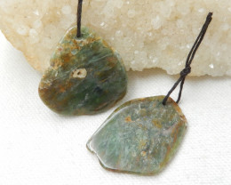 54ts nugget green kyanite Jasper earrings ,earrings ,healing stone D735