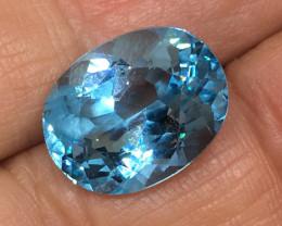 11.38 Carat VVS Topaz Soft Blue Color Flash Quality Amazing !