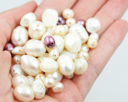 250Cts parcel  fresh water pearls ,hole drilled  W1208