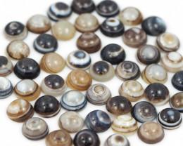 400Cts parcel  70 button beads Jasper Gemstones  W1209
