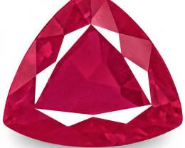 IGI Certified Burma Ruby, 1.13 Carats, Rich Velvety Pinkish Red Triangular