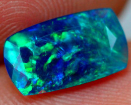 1.08cts Natural Ethiopian Smoked Faceted Black Opal / JU184