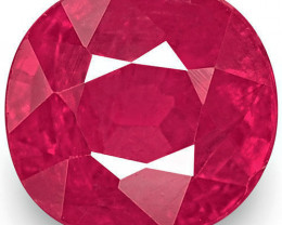 IGI Certified Mozambique Ruby, 1.13 Carats, Bright Red Oval