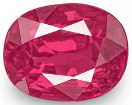 IGI Certified Mozambique Ruby, 0.95 Carats, Lively Pinkish Red Oval
