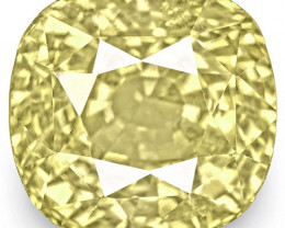 GIA Certified Sri Lanka Yellow Sapphire, 8.58 Carats, Lustrous Yellow