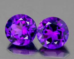 6.00 mm Round 2pcs 1.52cts Purple Amethyst [VVS]