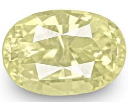 IGI Certified Sri Lanka Yellow Sapphire, 5.78 Carats, Soft Yellow Oval