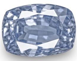 IGI Certified Burma Blue Sapphire, 2.45 Carats, Lustrous Blue Cushion