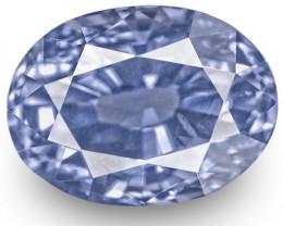 IGI Certified Sri Lanka Blue Sapphire, 4.16 Carats, Fiery Vivid Blue Oval