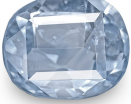 IGI Certified Burma Blue Sapphire, 3.14 Carats, Blue Antique-Cut Cushion