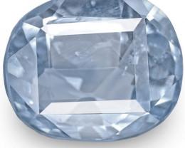 IGI Certified Burma Blue Sapphire, 3.14 Carats, Blue Antique-Cut Cushion