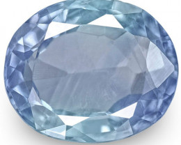 IGI Certified Burma Blue Sapphire, 2.67 Carats, Velvety Blue (Color Zoning)