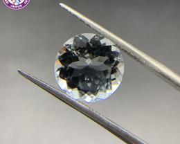 6.81 ct Aquamarine Loose Gemstone - Natural Gemstone - Round Shape - BLUE
