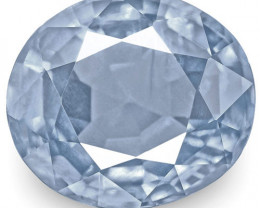 IGI Certified Burma Blue Sapphire, 3.95 Carats, Velvety Blue Oval