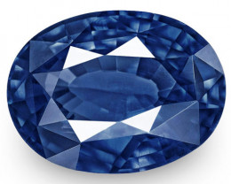 IGI Certified Burma Blue Sapphire, 1.60 Carats, Intense Royal Blue Oval