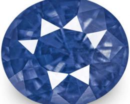 IGI Certified Burma Blue Sapphire, 1.23 Carats, Cornflower Blue Oval