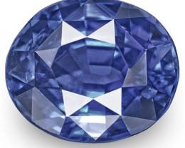 IGI Certified Burma Blue Sapphire, 1.19 Carats, Royal Blue Oval