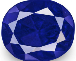 IGI Certified Burma Blue Sapphire, 1.24 Carats, Rich Royal Blue Oval